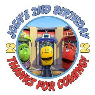 Personalised Chuggington Party Stickers